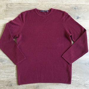 ZARA MAN Soft knit Long Sleeve Maroon Sweater Sz M